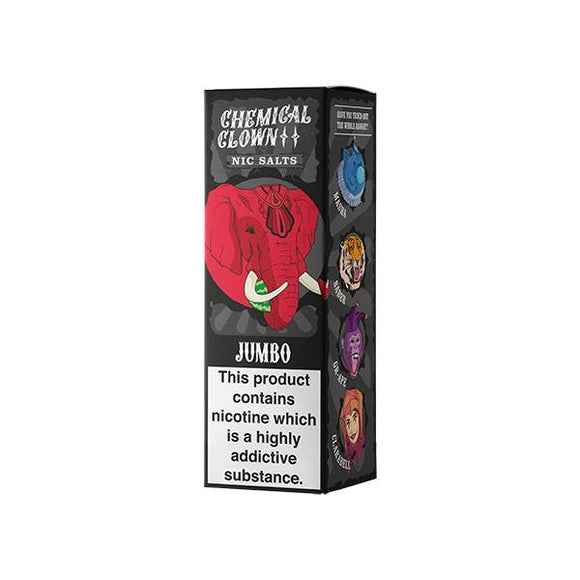 Vaping Products - 20mg Chemical Clown 10ml Flavoured Nic Salts