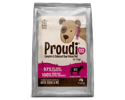 Proudi Raw Feeder's Kitchen - Beef for Dogs - 2.8KG