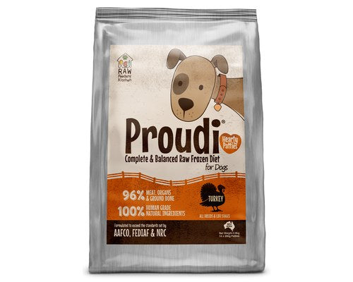 Proudi Raw Feeder's Kitchen - Turkey for Dogs - 2.8KG