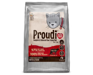 Proudi Raw Feeder's Kitchen - Roo & Beef for Cats - 1.2KG