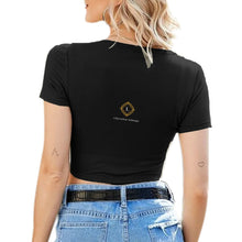 Load image into Gallery viewer, Women's Sexy V-neck Tie Up Crop Top