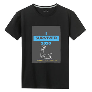 """I Survived 2020"" Unisex Graphic Print T-shirt"