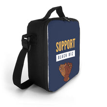 Load image into Gallery viewer, 'Support Black Biz' Insulated Lunch Bag