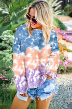 Load image into Gallery viewer, NEW Fashion Color Block Tie Dye Sweatshirt