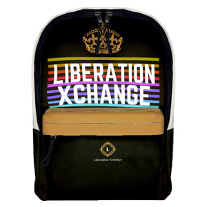 Liberation Xchange Colorway Print Leather Backpack