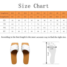 Load image into Gallery viewer, Women Flat Heel Leather Slippers