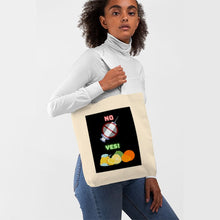 "Load image into Gallery viewer, ""No/Yes"" Tote Bag"
