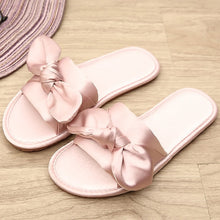 Load image into Gallery viewer, Women Fashion Silk Bow Slippers