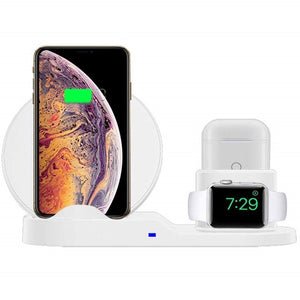 3 IN 1 Fast Wireless Charger For Iphone X XS XR 8 Plus, Apple Watch, Airpods