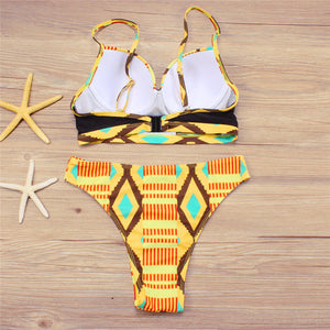 New African Design Bikini Set