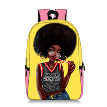 Load image into Gallery viewer, Cute Melanin Girl Print Backpacks