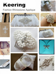 Designer Handmade Rhinestone Patch For Wedding Dresses, Fashion Events & More!