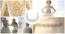 Load image into Gallery viewer, Designer Handmade Rhinestone Patch For Wedding Dresses, Fashion Events & More!