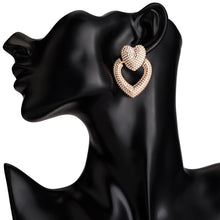 Load image into Gallery viewer, Large Designer Acrylic Heart Earrings