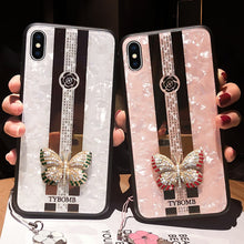 Load image into Gallery viewer, Luxury Mirror, Inlaid Butterfly iPhone Cases For iPhone X XR XS MAX 11 Pro Max