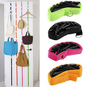 Adjustable Over The Door Hanger For Hats, Bags, Coats, & More!