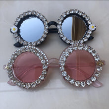 Load image into Gallery viewer, 2020 Women Crystal Diamond Handmade, Flower Design Summer Sunglasses