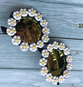 2020 Women Crystal Diamond Handmade, Flower Design Summer Sunglasses
