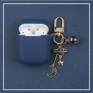 Cosmic Astronaut Spaceman Silicone Cases for Apple Airpods w/ Key Ring