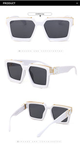 2020 Luxury Designer Thick Frame Square Sunglasses