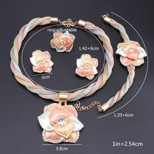 Load image into Gallery viewer, Classic Crystal Flower Pendant Jewelry Sets for Women