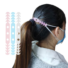 Load image into Gallery viewer, Multi-Colored Length Adjustable Mask Hooks For Ear Support and Relief (6 Pack!)