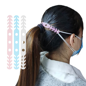 Multi-Colored Length Adjustable Mask Hooks For Ear Support and Relief (6 Pack!)