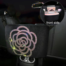 Load image into Gallery viewer, Crystal Rhinestone Car Storage Bag Organizers