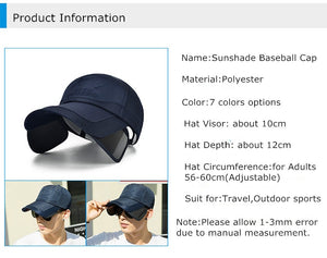Summer Sun, Wide Brim Hats w/ UV Protective Visor