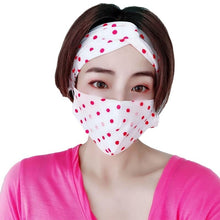 Load image into Gallery viewer, Fashion Breathable Two-Piece Mask & Hairband