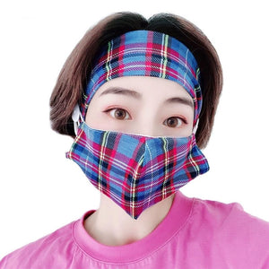 Fashion Breathable Two-Piece Mask & Hairband