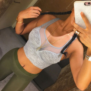 Athleisure Mesh Fitness Bra Top