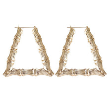 Load image into Gallery viewer, New Bamboo Hoop Earrings