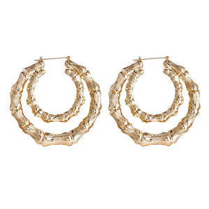 New Bamboo Hoop Earrings