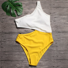Load image into Gallery viewer, High Waist Trikini Bathing Suit