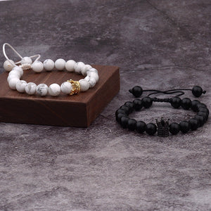 "Natural Stones ""His And Hers"" Couple Bracelets"
