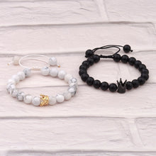 "Load image into Gallery viewer, Natural Stones ""His And Hers"" Couple Bracelets"