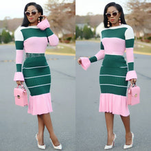 Load image into Gallery viewer, Womens Fashion Knitted Midi Dress