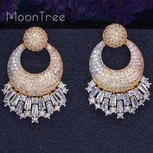 Luxury  Crystal Designer Earrings For Special Occasions