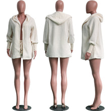 Load image into Gallery viewer, Women 2 Piece Fashion Fleece + Shorts Set