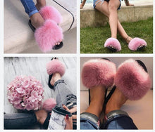 Load image into Gallery viewer, Vogue Plush Fur Slides