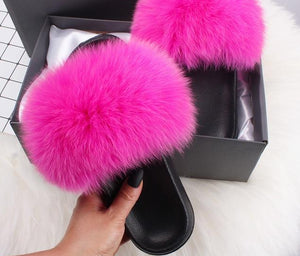 Vogue Plush Fur Slides
