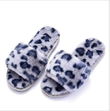 Load image into Gallery viewer, New Cheetah Print Fur Slippers