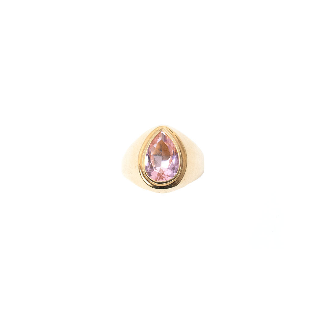 Morganite Cygnet Ring - Anna Design Jewellery