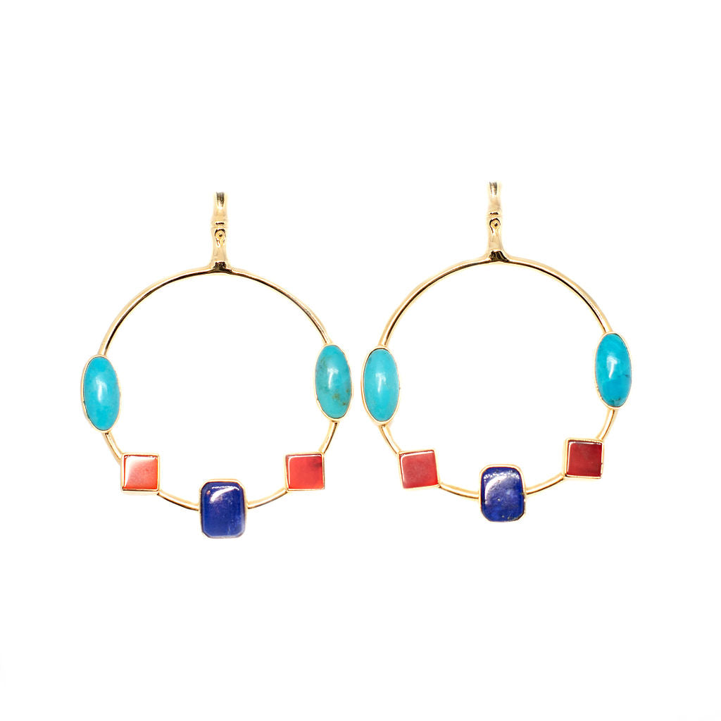 Carnivale Gold Earrings - Anna Design Jewellery
