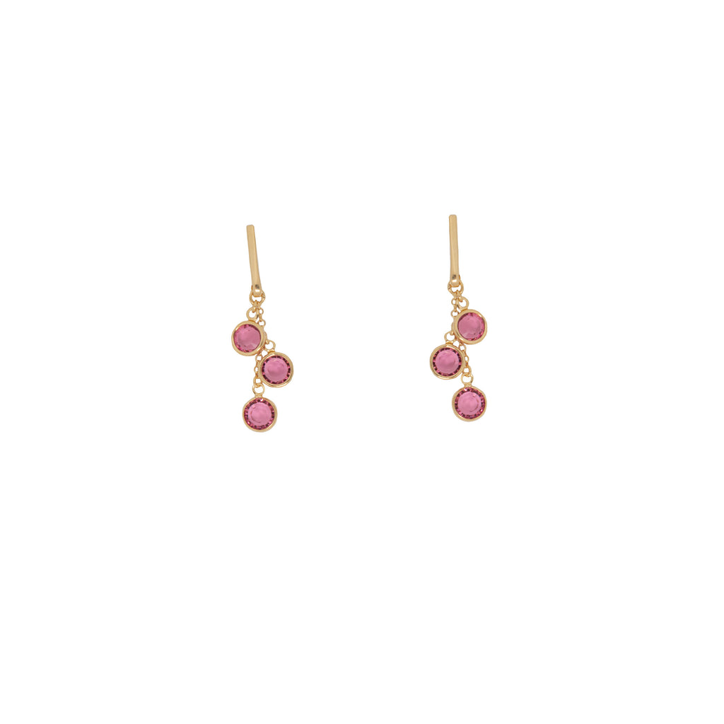 Azure Earrings - Pink - Anna Design Jewellery