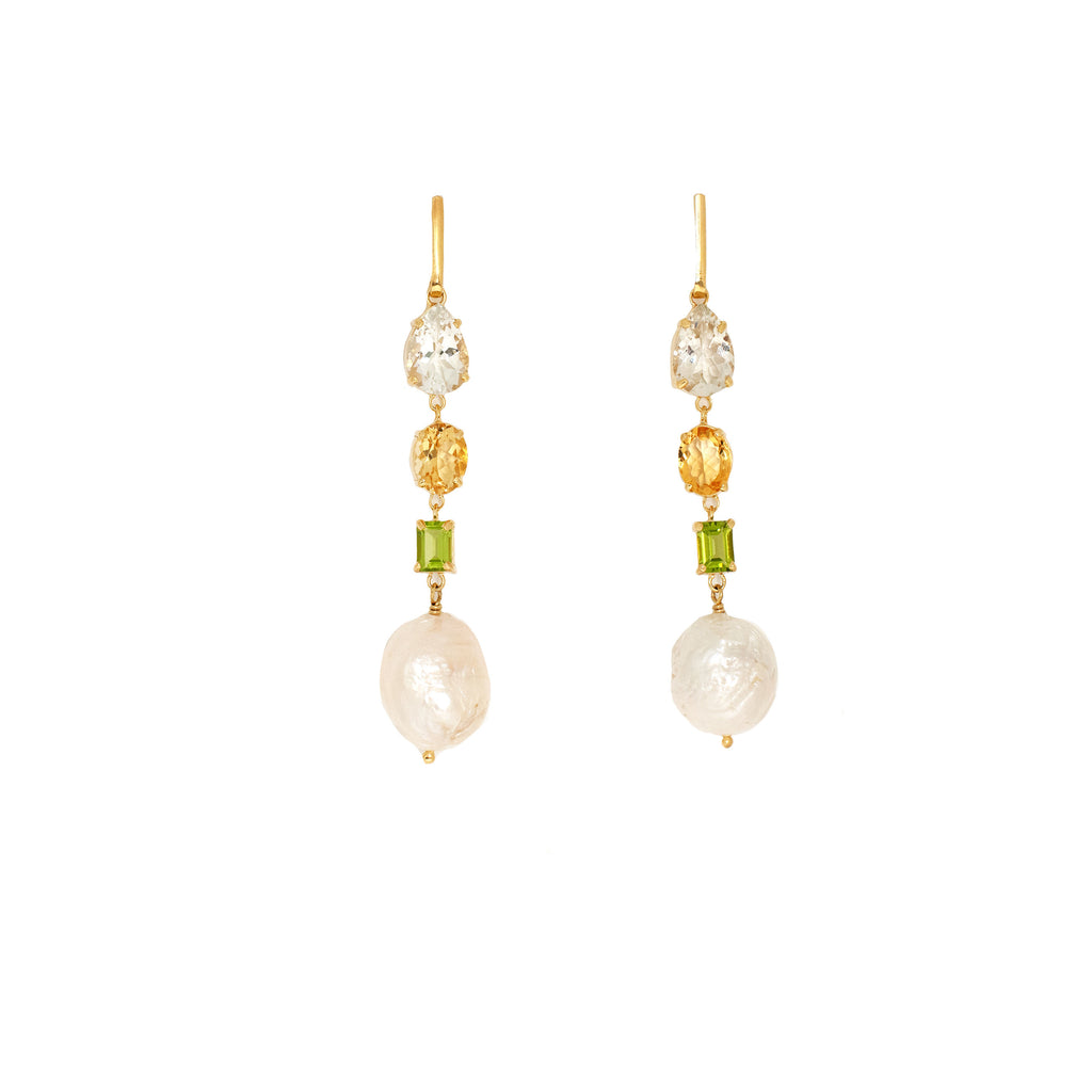 Donatella earrings Green - Anna Design Jewellery