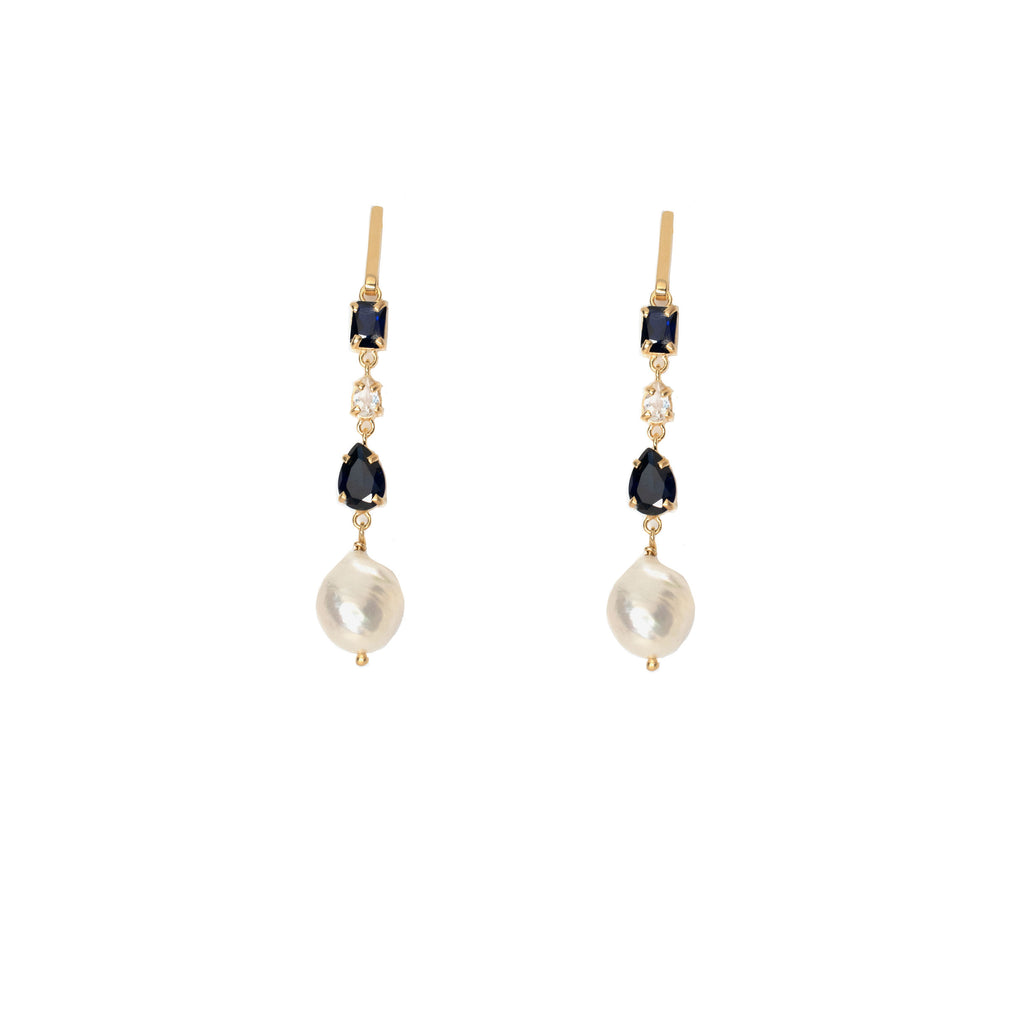 Donatella Earrings Blue - Anna Design Jewellery