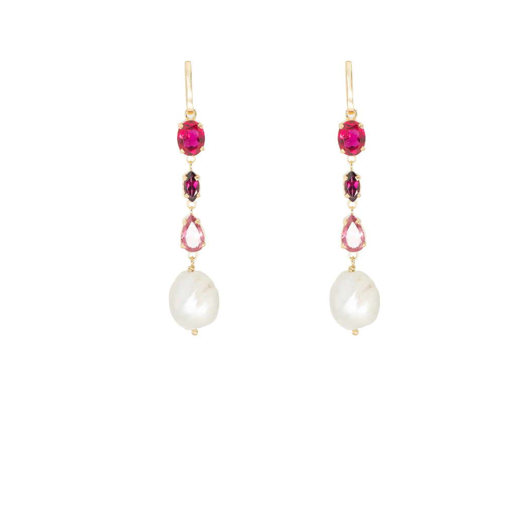 Donatella Earrings Pink - Anna Design Jewellery