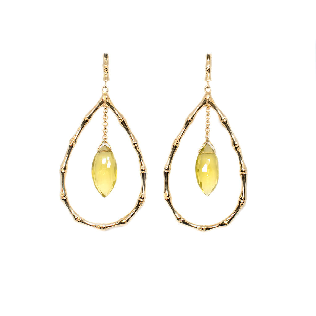 BAMBU COLLECTION  earrings  (AN11B GP) - Anna Design Jewellery